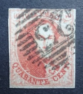 BELGIE  1861   Nr. 12   P 25      Gestempeld  CW 90,00 - 1858-1862 Medallions (9/12)