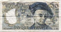 France 50 Francs (P153b) 1984 -G/VG- - 1962-1997 ''Francs''