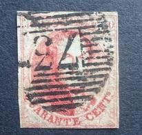 BELGIE  1861   Nr. 12   P 73       Gestempeld  CW 90,00 - 1858-1862 Medallions (9/12)