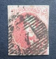 BELGIE  1861   Nr. 12   P 4      Gestempeld  CW 90,00 - 1858-1862 Medallions (9/12)