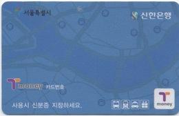 Carte De Transport En Commun : Seoul Corée Du Sud - Autres Collections