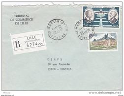 L4J007 France 1978 LR Lille St Martin  Pour Roubaix Nord  Aff. 8,00f F  Cad  14 09  1978 - Brieven En Documenten