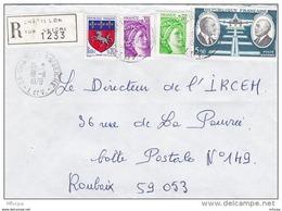 L4J013 France 1978 LR Chatillon Sur Seine Ille Et Vilaine  Pour Roubaix Nord Aff. 7,70f  Cad  18 11 1978 - Brieven En Documenten