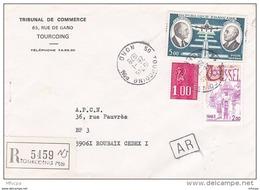 L4J015 France 1978 LAR Tourcoing Nord Pour Roubaix  Nord Aff. 8,00f Cad 26 01 1978 - Brieven En Documenten