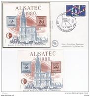 L4J155 FRANCE 1980 Bloc Alsatec Et Enveloppe PJ Strasbourg 15 03 1980 - CNEP