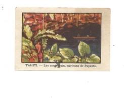 Chromo OCEANIE TAHITI Lac Souterrain Papeete Chocolat Annecy RR 1936 TB/Bien Colonies Françaises 2 Scans (Vente Privée) - Chocolat
