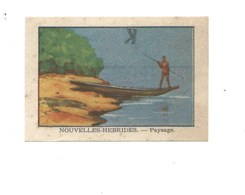 Chromo OCEANIE Nouvelles-Hébrides Pirogue Chocolat Annecy RR 1936 TB/Bien Colonies Françaises 2 Scans (Vente Privée) - Chocolat