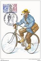 L4K050 France 1984  Cachet Com.24 Heures Cyclotouristes Orchies Nord 15-15 09 1984/CP Illustée YvT 2290 - Cyclisme