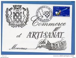 L4K124 FRANCE 1986 Cach. Comm. Xié Fête Commerce Et Artisanat 59 Mouvaux 28 09 1986 /CP  Ill. YvT 2286 - Marcophilie (Lettres)