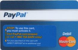 Carte De Débit : PayPal (non-activée) - Gift Cards