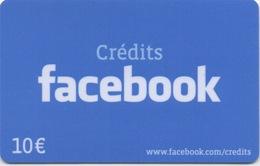 Carte Crédits : Facebook 10€ (PIN Non-gratté) - Gift Cards