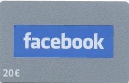 Carte Crédits : Facebook 20€ (PIN Non-gratté) - Gift Cards
