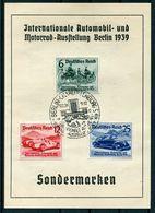 III Reich - Michel 686-688 Auf Sonderkarte - Lettres & Documents