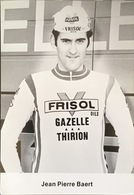 Postcard Jean-Pierre Baert - Frisol-Gazelle-Thirion - 1977 - Ciclismo