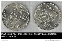 IRAQ - 500 Fils - 1973 - KM 139 - OIL NATIONALIZATION -UNC -   Gomaa - Iraq