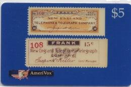 USA : AmeriVox : Série Timbres Fiscaux Téléphoniques : New England USA (sous Emballage - PIN Non-gratté) - Timbres & Monnaies