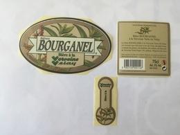 Ancienne étiquette F20 BIERE FRANCAISE - BRASSERIE BOURGANEL - LA BOURGANEL - BIERE A LA VERVEINE VELAY - Beer