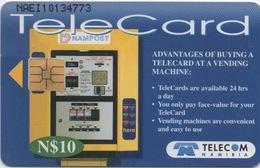 Télécarte Namibie : Vendue Par Distributeur Automatique - Téléphones