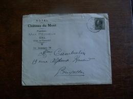 Omslag Met Zegel 1934 Hotel Du CHATEAU  Du  MONT   IZEL - Florenville