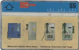 Télécarte Malaisie : Evolution De Téléphones Publiques - Téléphones