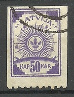 LETTLAND Latvia 1919 Michel 22 Einseitig (unten) Perforiert 9 3/4 O - Lettland