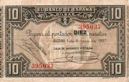 SPAIN 10 PESETAS 1937  P-S562g  CIRC - 10 Pesetas