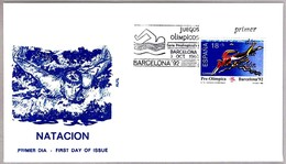 NATACION - SWIMMING. Juegos Olimpicos Barcelona'92. SPD/FDC Barcelona 1990 - Nuoto
