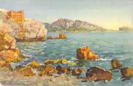 Paysage De La Cote Méditerranéenne Illustration De E.Robert - Robert