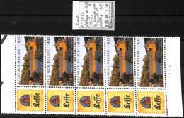 [409754]TB//**/Mnh-Belgique 2002 - N° 3073, Abbaye De Leffe, Bière, La Bande Avec Vignette N°, Planche 1 - Belgio