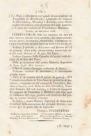 1836 REGNO DELLE DUE SICILIE DECRETO LAURIA VIENE SEOARATO DA TRECCHINA E MARATEA CHE DIVENTANO CIRCONDARIO A SE' - Decrees & Laws