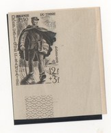 N°863 FACTEUR RURAL NON DENTELE SUPERBE BORD DE FEUILLE COULEUR GRIS - Curiosità: 1950-59  Nuovi