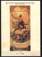 SMOM - 2001 -  SAN GIOVANNI: CAPPELLA DEL PALAZZO MAGISTRALE - FOGLIETTO - SOUVENIR SHEET - MNH - Sovrano Militare Ordine Di Malta