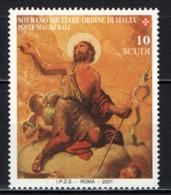 SMOM - 2001 -  SAN GIOVANNI: PARTICOLARE DELLA CAPPELLA DEL PALAZZO MAGISTRALE - MNH - Sovrano Militare Ordine Di Malta
