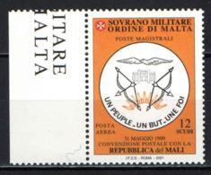 SMOM - 2001 - CONVENZIONE POSTALE DìCON LA REPUBBLICA DEL MALI - MNH - Sovrano Militare Ordine Di Malta