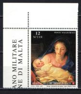 SMOM - 2001 - NATALE: ADORAZIONE DEI PASTORI DI A. R. MENGS - PARTICOLARE -MNH - Sovrano Militare Ordine Di Malta
