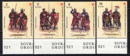 SMOM - 2001 - UNIFORMI E COSTUMI DEL SOVRANO MILITARE ORDINE DI MALTA - CAVALIERI GEROSIMILITANI DEL XIII-XIV SECOLO-MNH - Sovrano Militare Ordine Di Malta