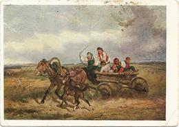 "RUSSIA - RUSSIE - RUSSLAND Sverchkov ""The Driving Of Children"" Horse Foal 1932 - Scenes & Landscapes"