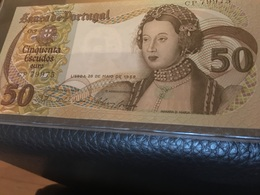See Photos. Portugal 50 Escudos 1968 CRISP Banknote UNC - Portugal