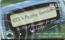 Belize, BZ-BLT-PRE-0010C, BZ $10, BTL's Paging Service, 2 Scans. - Belize