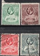 1928 Gold Coast KGV  ½d, 1d, 1½d, 2d  Fine Used Stamps SG No. 103-106 - Côte D'Or (...-1957)