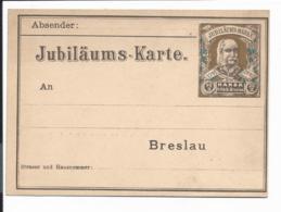 Stadtpost Breslau P ? ** -  2 1/2 Pf. Hansa Jubiläumskarte - Privatpost