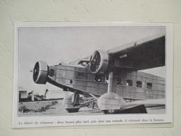 Congo  -Brazzaville - Trimoteur BLOCH 120 D'Air Afrique Avant Crash Dans Une Tornade   - Coupure De Presse 1935 - Aviation Commerciale