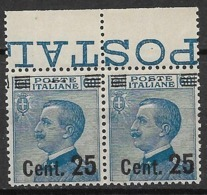 Italy 1923, Pair MNH - Mi. Nr. 170 - Ungebraucht