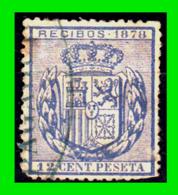 ESPAÑA –  SELLO FISCAL RECIBOS ALFONSO XII 1878, 12 CÉNTIMOS - Steuermarken/Dienstpost