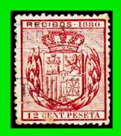 ESPAÑA –  SELLO FISCAL RECIBOS ALFONSO XII 1880 - 12 CÉNTIMOS - Steuermarken/Dienstpost