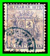 ESPAÑA –  SELLO FISCAL RECIBOS ALFONSO XII 1875 - 25 CÉNTIMOS - Steuermarken/Dienstpost