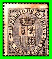 ESPAÑA IMPUESTO DE GUERRA.- 5 CENT. PESETA.- - 1873-74 Regentschaft