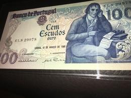 See Photos. Portugal 100 Escudos 1985 CRISP Banknote UNC - Portugal