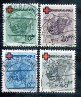 5959 - FRANZÖSISCHE ZONE-RHEINLAND-PFALZ - Mi. 42-45 Gestempelt - Französische Zone