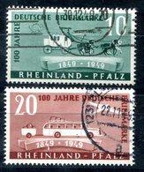 5960 - FRANZÖSISCHE ZONE-RHEINLAND-PFALZ - Mi. 49-50 Gestempelt - Französische Zone
